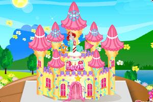 公主的城堡蛋糕图片