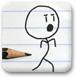 铅笔画小人21
