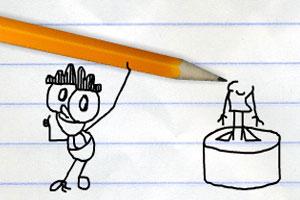 铅笔画小人24