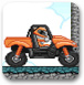 橙色摩托车赛车
