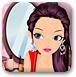 梳妆镜前化妆