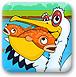 鹈鹕抓金鱼