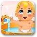 小婴儿沐浴时间