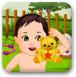 小宝宝花园洗澡