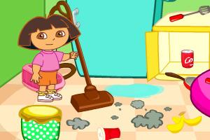 朵拉房间打扫_朵拉房间打扫小游戏大全_朵拉