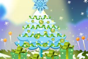 装饰彩灯圣诞树图片