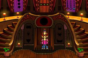 戴面具的女孩被人绑架关进了牢笼你得赶紧帮助她寻找线索...