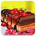 美味的樱桃蛋糕
