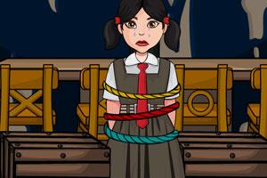 ...小女孩被匪徒绑票捆绑锁在了密室内非常的无助.赶紧在房间...