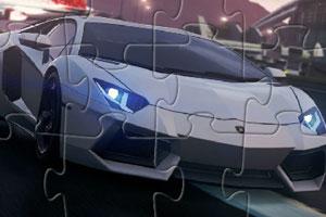 汽车拼图的时间了,这次我们要拼的是非常帅气的兰博基尼赛车,高清图片
