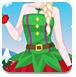 艾莎的圣诞装扮