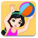 公主在沙滩玩耍