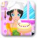 美女做蛋糕