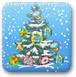 射击圣诞树的礼物