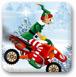 圣诞精灵雪地摩托