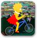 丽萨骑自行车