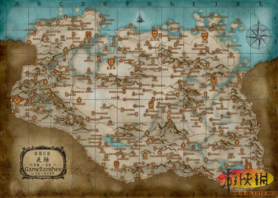 上古卷轴5各地点详细位置地图(中文