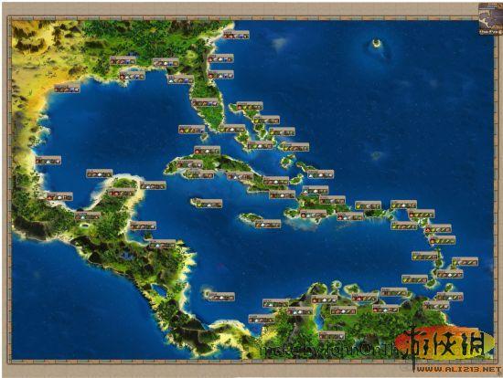 《海商王3》世界地圖港口生產物品資料_海商王3攻略
