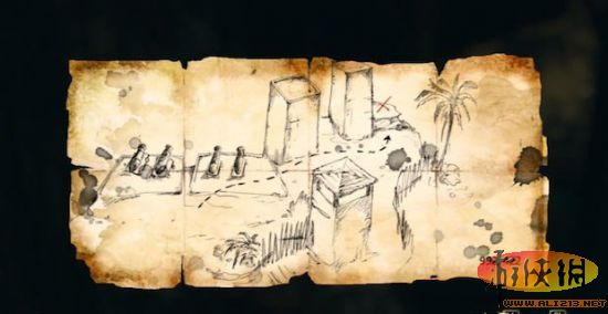 『刺客教條4:黑旗』藏寶圖寶藏位置座標大地圖 附視訊