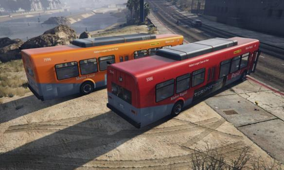 侠盗猎车手5 GTA5 真实巴士广告MOD安装教程高清图片