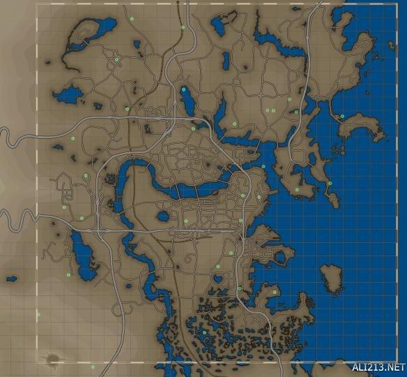 《辐射4》野外动力甲位置及超清地图图览