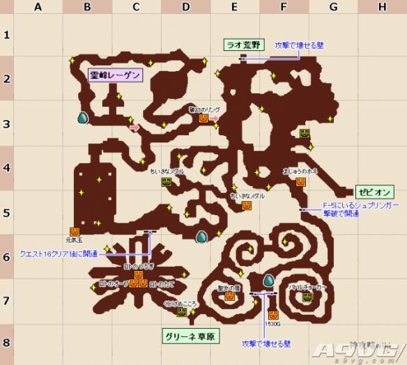 《勇者斗恶龙:英雄2》全地图素材点,怪物及事件一览