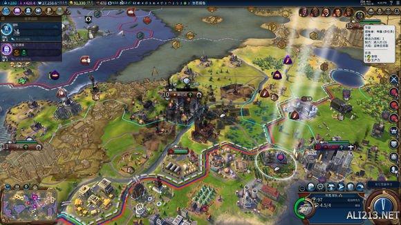 《文明6》神标岛屿地图维京之怒挪威文明统治胜利图片