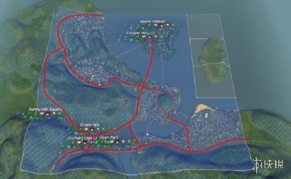 城市天际线交通规划图文教程 城市天际线道路规划指南 6 骨干路网 快速通路