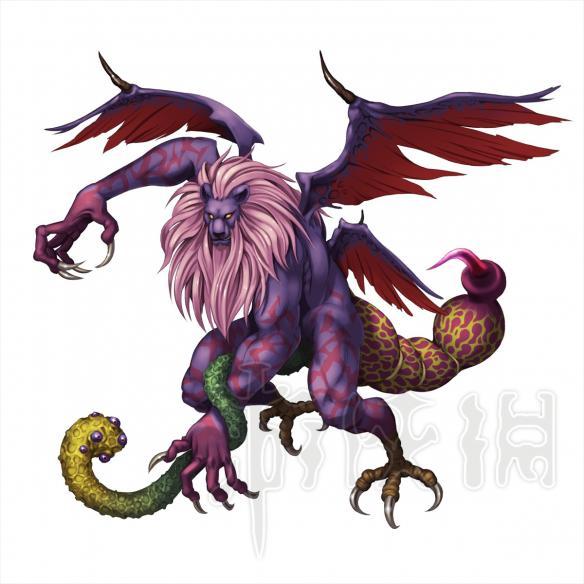 司掌风和热风,有狮子的头和手脚,蝎子尾巴,背后还有四片翅膀
