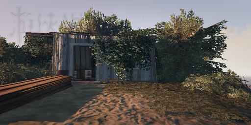 在佩里托小海湾上的孤岛上有一座小屋,楼主大概探索了一下,推测