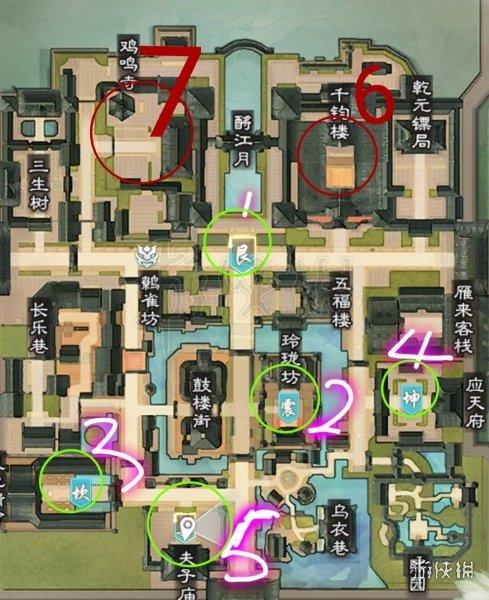 楚留香金陵夺宝怎么玩 金陵夺宝刷新顺序位置坐标一览