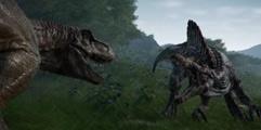 《侏罗纪世界:进化》基因改造角鼻龙的战斗力效果演示视频