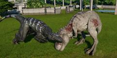 《侏罗纪世界:进化》霸王龙大战暴虐迅猛龙视频 暴虐迅猛龙厉害吗?