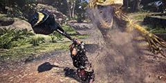 《怪物猎人世界》炎王龙滑坡锤打法视频演示 滑坡锤强不强?