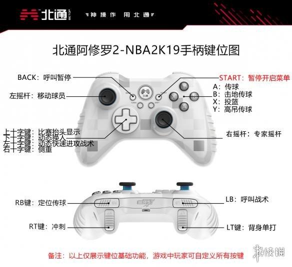 NBA2K19手柄操作按键教程 NBA2K19北通手柄按键说明
