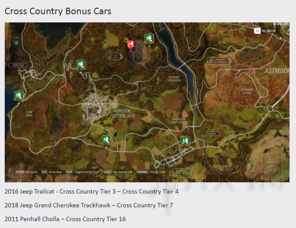极限竞速地平线4车辆怎么获取 地平线4全地图车辆获取一览4