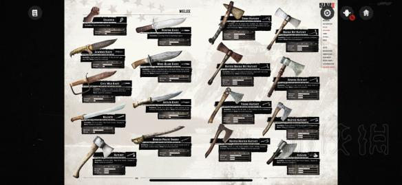 荒野大镖客2武器介绍 荒野大镖客2武器有多少种