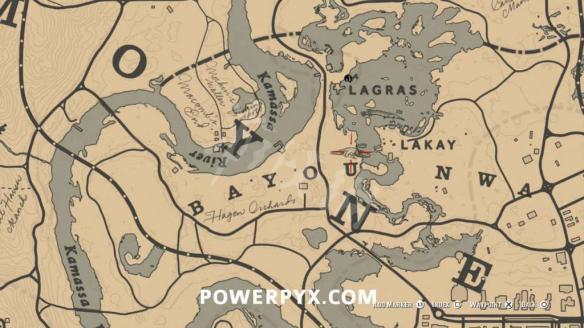 荒野大镖客2鳄鱼地图位置说明 荒野大镖客2鳄鱼在哪