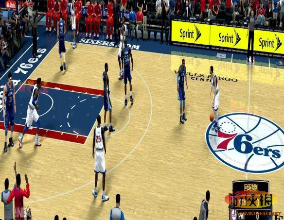 启动游戏 补丁说明: nba2k14 球场地板反光补丁,加强了地板的反光