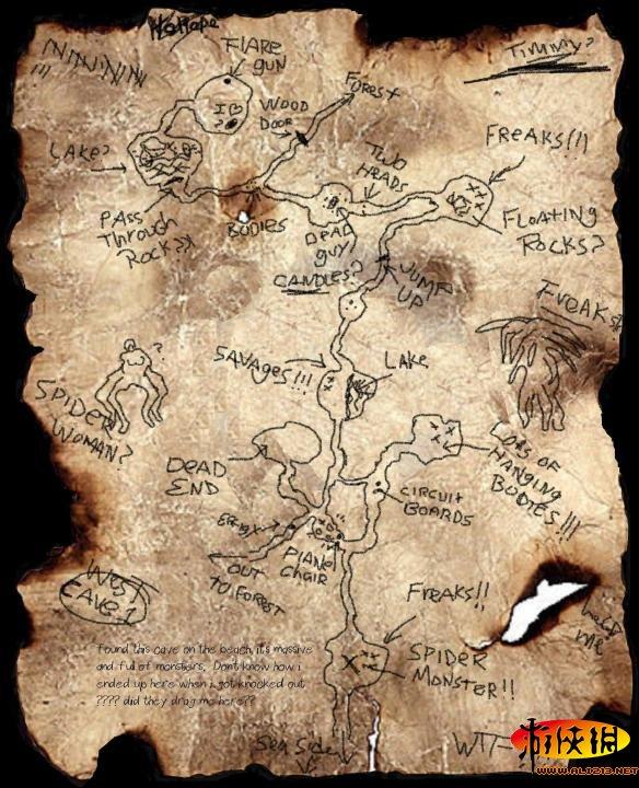 森林 洞穴手绘地图 精美壁纸_森林游戏地图_游侠网