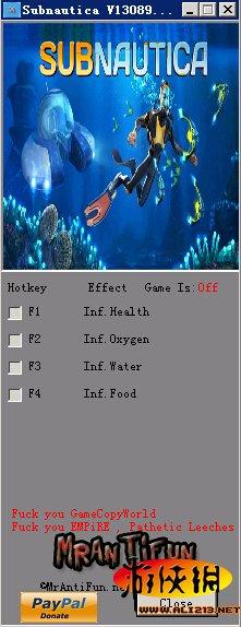 水下之旅 v1.0四項修改器MrAntiFun版