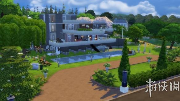 模拟人生4 流水别墅mod