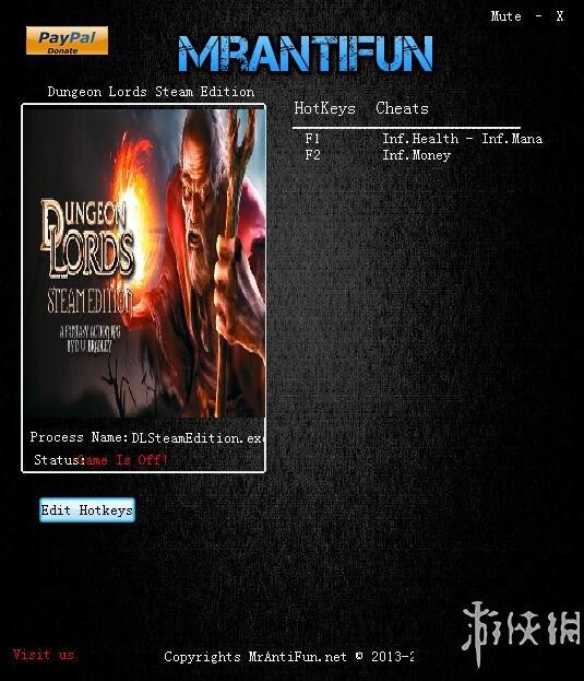 龍與地下城:地下城主(Dungeon Lords)v1.6三項修改器MrAntiFun版