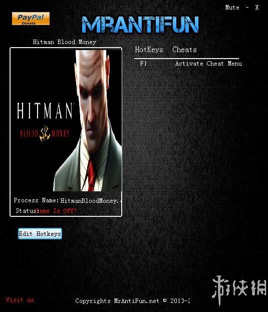 殺手4血錢(Hitman Blood Money)v1.0一項修改器MrAntiFun版