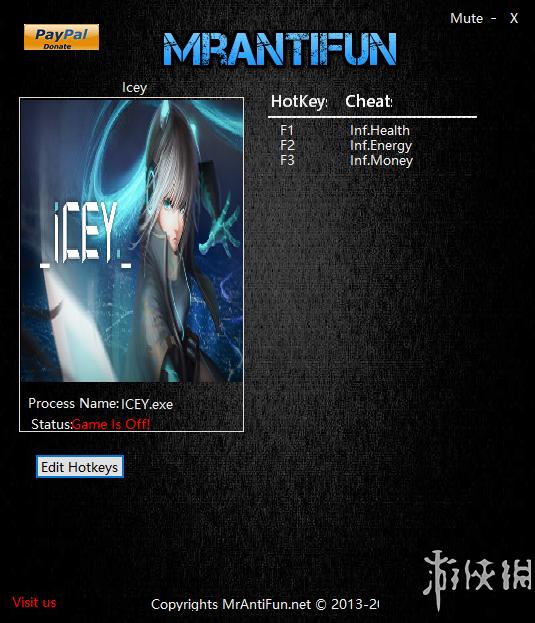 ICEY(ICEY)v20161120三項修改器MrAntiFun版