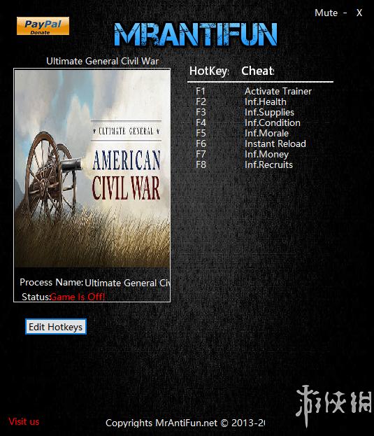 終極將軍:內戰(Ultimate General: Civil War)v0.66七項修改器MrAntiFun版