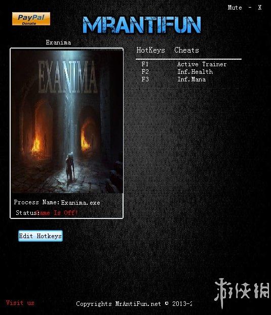 Exanima(Exanima)v0.6.4.6兩項修改器MrAntiFun版