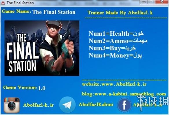 最後一站(The Final Station)v2.0.0.2四修改器Abolfazl.K版