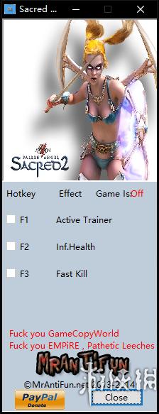 聖域2:冰與血(Sacred 2: Ice and Blood)v2.65.2兩項修改器MrAntiFun版