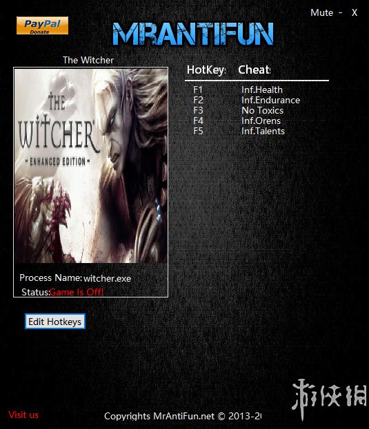 巫師(The Witcher)v20161219五項修改器MrAntiFun版